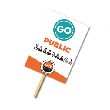 Correx Placards with Poles (Personalised)