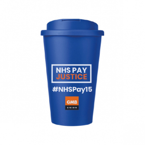 Standard Americano Mug with Spill Proof Lid - NHSPAY15 (Personalised)
