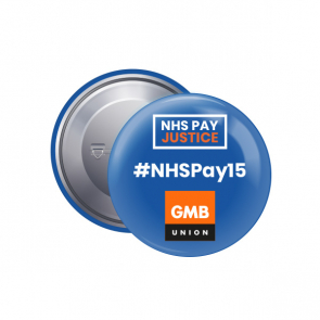 38mm Button Badge - NHSPAY15