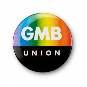 GMB Union 38mm Tin Badge