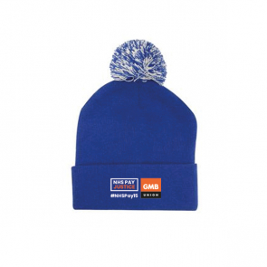 Bobble Hat with Turn Up - NHSPAY15 (Personalised)
