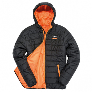 GMB Soft Padded Jacket Black/Orange